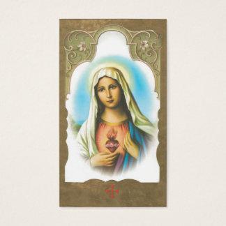 Memorial Sacred Heart of Mary Prayer Card