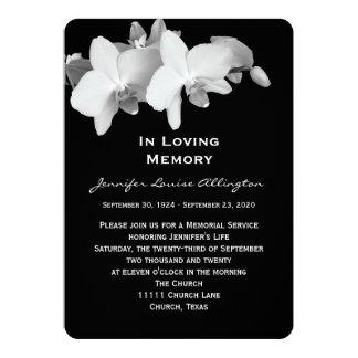 Memorial Service Announcement - Orchids