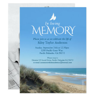 Memorial Service Invitations & Announcements | Zazzle.com.au