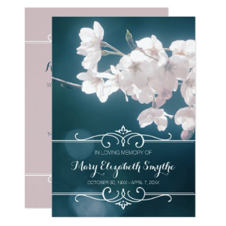 Memorial Service Cherry Blossoms Sakura Flowers Card