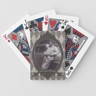 memorial service gift bicycle playing cards