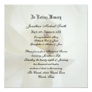 Memorial Service Invitation Announcement