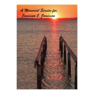 Memorial Service Invitation, Fishing Boat Sunset