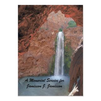 Memorial Service Invitation, Hidden Waterfall
