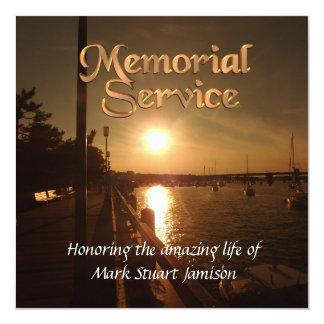 Memorial service invitation Sunset