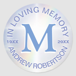 Memorial Sticker Monogram