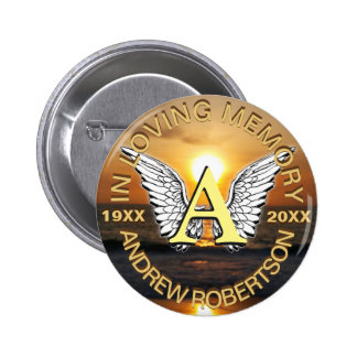 Memorial Sunset Monogram 6 Cm Round Badge
