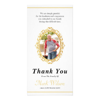 Memorial Thank You Photo Card