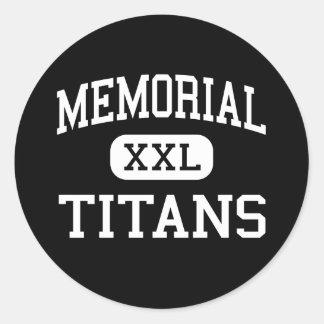 Memorial - Titans - High - Port Arthur Texas Classic Round Sticker