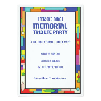 Funeral Wake Invitations Announcements Zazzlecomau