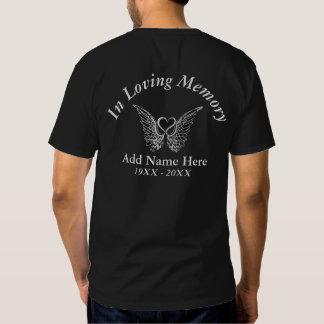 Memorial Tshirt  with Angel Wings & Heart