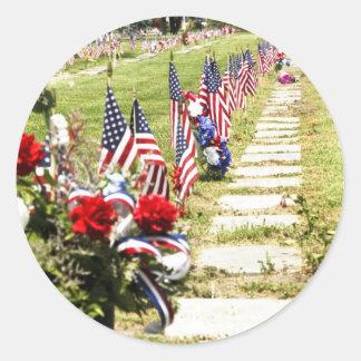 Memorial / Veterans Day Tribute Classic Round Sticker