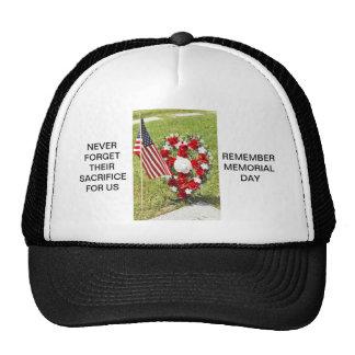 Memorial Veterans Day Tribute Mesh Hats