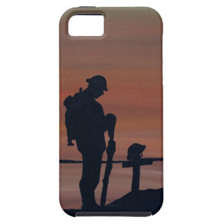 Memorial, Veternas Day, silhouette solider at grav iPhone 5 Cases