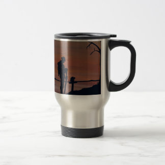 Memorial, Veternas Day, silhouette solider at grav Travel Mug