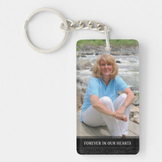 Memorial - White Back - Special Memories of You Double-Sided Rectangular Acrylic Key Ring