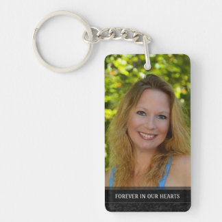 Memorial - Yellow Flower Back - They Are Where We Rectangle Acrylic Keychain