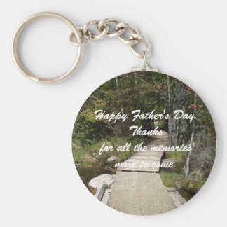 Memories Father's Day Basic Round Button Key Ring