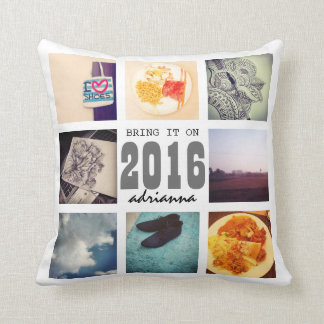 Memories Instagram Photo Collage 2016 Bring It On Cushion