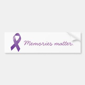 Memories Matter bumper sticker