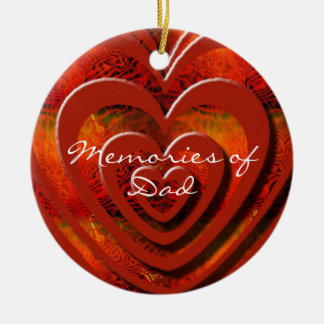 Memories of Dad Personalize Ornaments