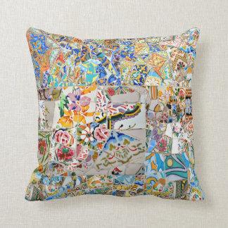 Memories. Park Güell. Great Mosaic. Part 1. Cushion