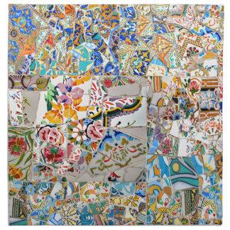 Memories. Park Güell. Great Mosaic. Part 1. Napkin
