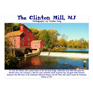 memory 1 135, The Clinton Mill, NJ, Photography... Postcard