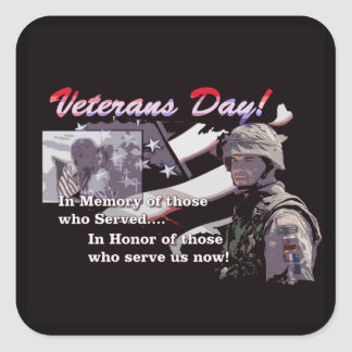 Memory And Honor Veterans Day Stickers
