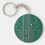Memory chip basic round button key ring