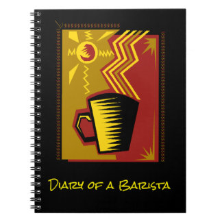 Memory Journal Book Barista Diary Coffee Recipes Spiral Notebooks