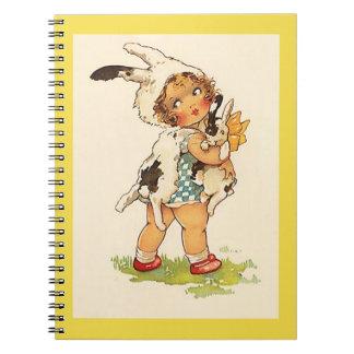 Memory Journal Book Vintage Sweet Bunny Rabbit