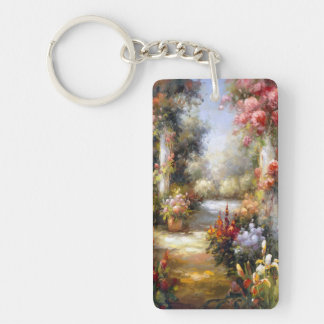 Memory Lane I Double-Sided Rectangular Acrylic Key Ring