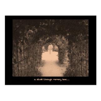 Memory lane post card