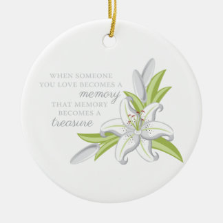 Memory Lily Ceramic Ornament
