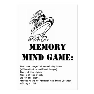 memory mind game-Cruise ship Pack Of Chubby Business Cards