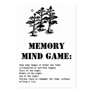memory mind game-trees pack of chubby business cards
