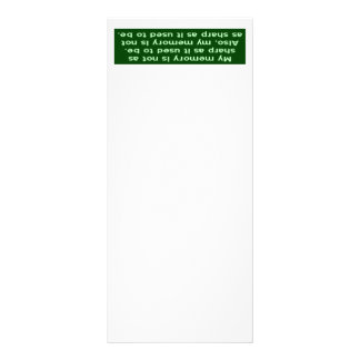 Memory Not Sharp Rack Card Design