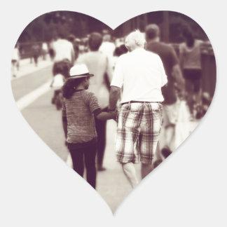 Memory With Grandpa Heart Sticker