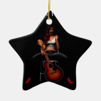 MEMPHIS :: Black Velvet Ceramic Star Decoration