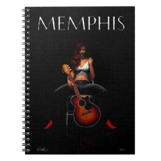 MEMPHIS :: Black Velvet Spiral Note Books