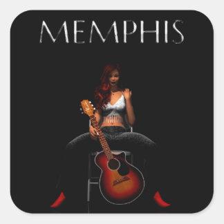 'MEMPHIS::Black Velvet' sticker