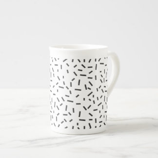 Memphis Geometric Minimal Black Abstract Style Tea Cup