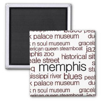 Memphis in Brown Magnet