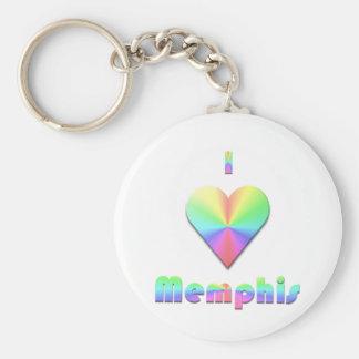 Memphis -- Pastels Key Ring