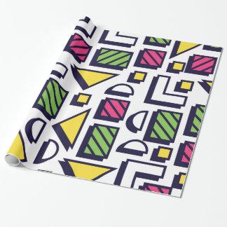 Memphis Pattern Pop Art 80s Geometric Pattern Wrapping Paper