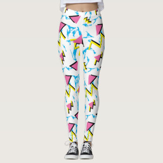 Memphis Retro Pattern Leggings