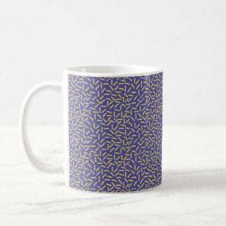 Memphis Style Purple Zigzag Coffee Mug