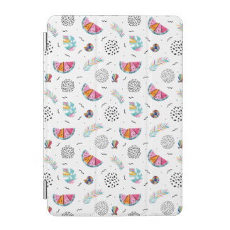Memphis Style Tropical Summer Pattern iPad Mini Cover
