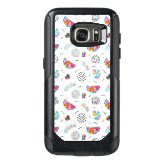 Memphis Style Tropical Summer Pattern OtterBox Samsung Galaxy S7 Case